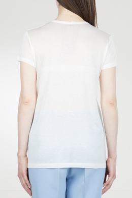 Белая футболка с логотипом No. 21 35143905