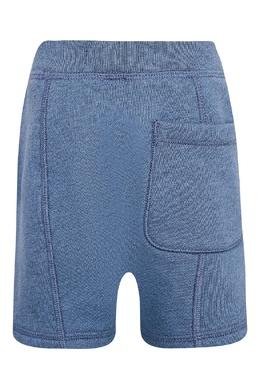 Голубые шорты с аппликацией Burberry Kids 1253143756