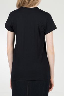 Черная футболка с логотипом No. 21 35143808