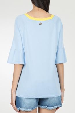 Голубая футболка из вискозы Blugirl 1916144167