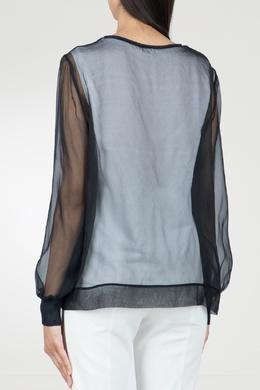Комбинированная черная блузка Peserico 1501143496