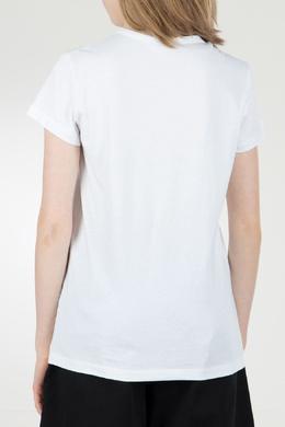Белая футболка с логотипом No. 21 35143801