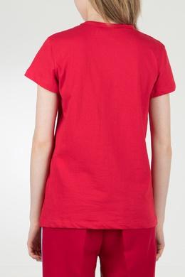 Красная футболка с логотипом No. 21 35143802