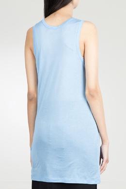 Длинная голубая майка с логотипом No. 21 35143912