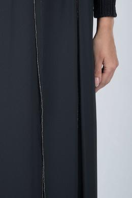 Черная юбка-макси с разрезами Peserico 1501143632