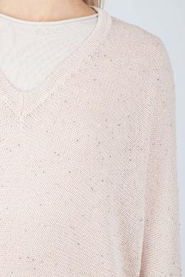 Розовый джемпер с V-вырезом Peserico 1501143547