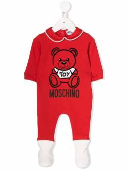 "Moschino Kids ""комплект из ромпера, нагрудника и шапки Teddy Bear"" MUY02DLDA17"