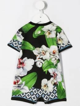 Dolce & Gabbana Kids комбинезон с цветочным принтом L1J09WG7SR1HNIH1