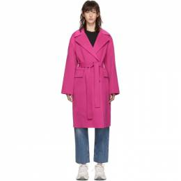 Kenzo Pink Belted Cocoon Coat 192387F05901104GB