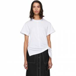 3.1 Phillip Lim White Side Tie T-Shirt 192283F11000801GB