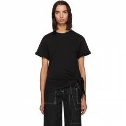 3.1 Phillip Lim Blak Side Tie T-Shirt 192283F11000601GB