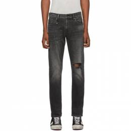 R13 Black Brandon Slim Jeans 192021M18600506GB