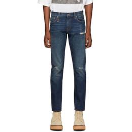 R13 Indigo Brandon Slim Jeans 192021M18600703GB