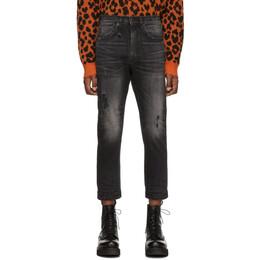 R13 Black Ankle Drop Jeans 192021M18600302GB