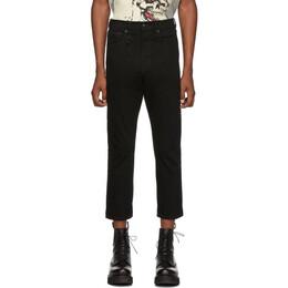 R13 Black Ankle Drop Jeans 192021M18600404GB