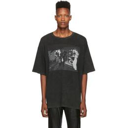 R13 Black Joy Division Warsaw T-Shirt 192021M21300402GB