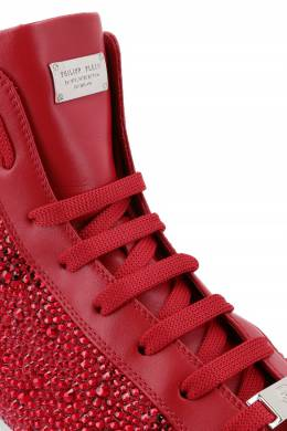 Красные кеды с кристаллами Philipp Plein 1795114499