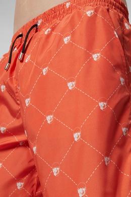 Оранжевые пляжные шорты с узором Philipp Plein 1795136812