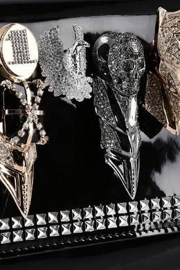 Черный лакированный клатч Philipp Plein 1795119079