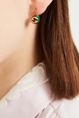 Красно-зеленые серьги Sylvie Web Gucci 470127325