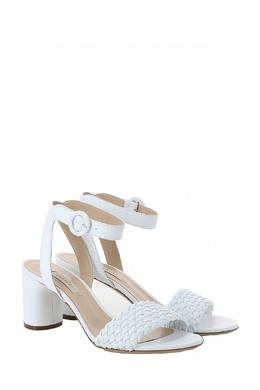 Белые босоножки с плетеной перемычкой Casadei 1654143664