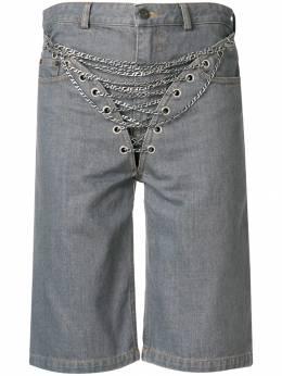 Y/Project - джинсовые шорты с декором из цепочек AN5SF309088660900000
