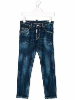 Dsquared2 Kids - джинсы узкого кроя с эффектом потертости 09DD66SM936593960000