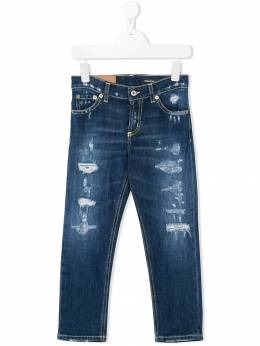 Dondup Kids - distressed slim-fit jeans A563DS953BS930936390