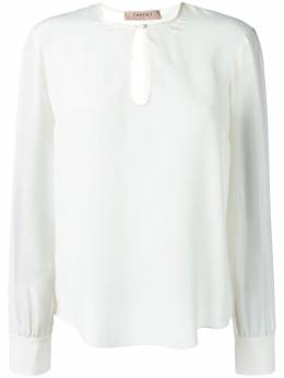 Twin-Set - блузка с контрастными вставками TP0959S9699693559396