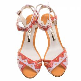 Sophia Webster Multicolor Patent Leather Ankle Straps Sandals Size 36.5 131949