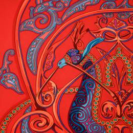 Hermes Multicolor La Charmante Au Animaux Printed Silk Square Scarf 180651