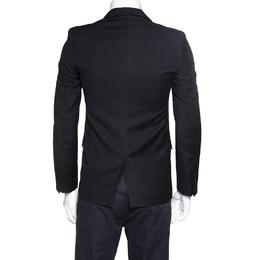 Zadig & Voltaire Black Wool Version Smocking Blazer S 153007
