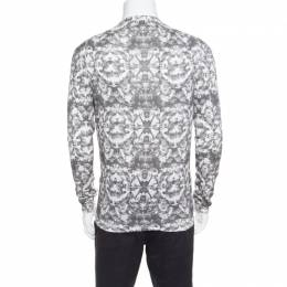 MCQ by Alexander McQueen Grey Bleached Fly Printed Cotton Cardigan L 170131