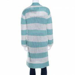 Zadig & Voltaire Deluxe Bicolor Striped Cashmere Romy Raye Long Cardigan XS 198808