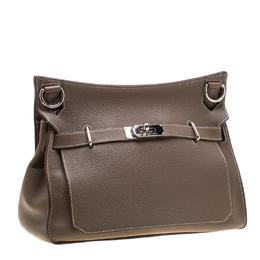 Hermes Etain Negonda Leather Jypsiere 34 Bag 196664