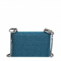 Dolce&Gabbana Blue Synthetic Fabric DG Girls Chain Evening Bag 199271