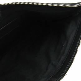 Balenciaga Black/Blue Nylon and Leather Classic Clip M Clutch 188487