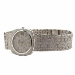 Piaget Silver 18K White Gold 13441 Women's Wristwatch 34MM 198964