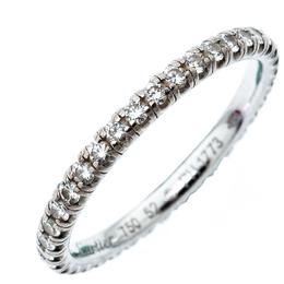 Cartier Etincelle De Cartier Diamond 18k White Gold Wedding Band Ring Size 52 193423