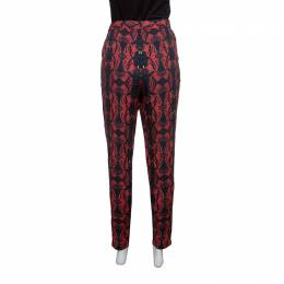 Alice + Olivia Romantic Butterfly Print Elasticized Waist Pants M 148176