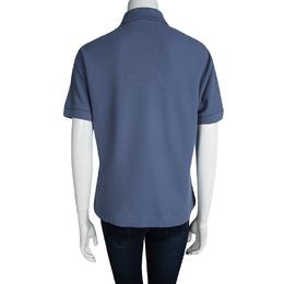 Just Cavalli Blue Polo T-Shirt L 95015