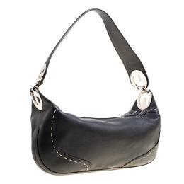 Escada Black Leather Eluna Shoulder Bag 161640