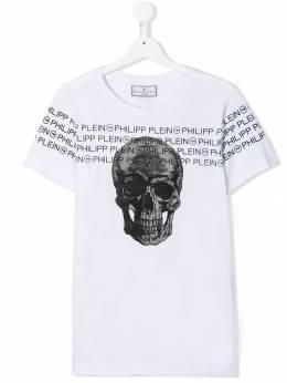 Philipp Plein Junior футболка с принтом Skull A19CBTK0807PJY002N