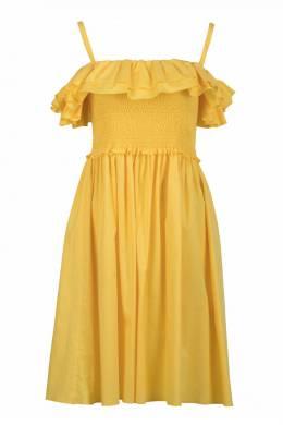 Желтое платье с двойной оборкой Blugirl 1916144391