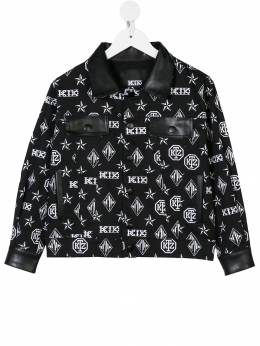 KTZ - monogram print denim jacket KIDSJK63B93665566000