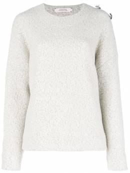 Dorothee Schumacher brooch embellished drop-shoulder sweater 123201