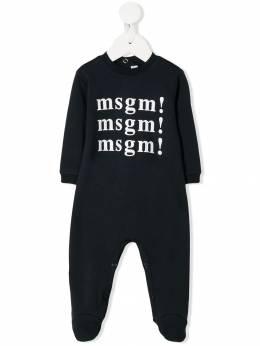 Msgm Kids комбинезон для новорожденного с логотипом 20992