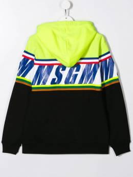 Msgm Kids худи в стиле колор-блок 021371