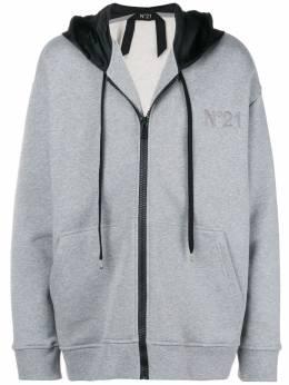 No. 21 colorblocked hood hoodie N1ME0716334