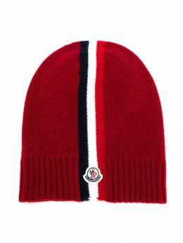 Moncler Kids - вязаная шапка с тремя полосками 036565S6890059650000